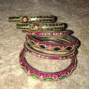 Set of 6 Indian style bracelets
